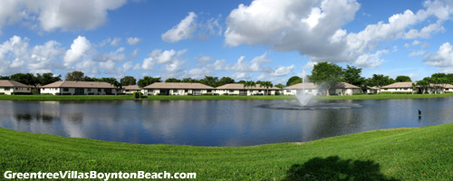 Residents of Boynton Beach's Greentree Villas community will enjoy this beautiful lake vista whenever they go for a drive or a stroll along the main road.